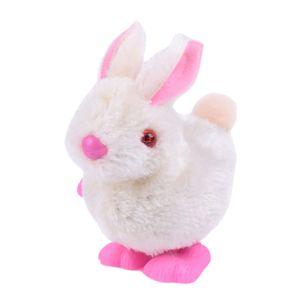 Pluh Bunny Toys Infant Child Gefüllte Spielzeug Hopping Wind Up Ostergeschenk WTJ210224081