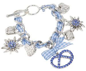 Trachtenarmband Armband Trachtenschmuck Charivari Breze Blau Edelweiß
