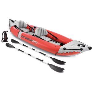 INTEX 68309NP Boot' ExcursionPro Kayak K2' Set inkl Alu-Paddel + Pumpe