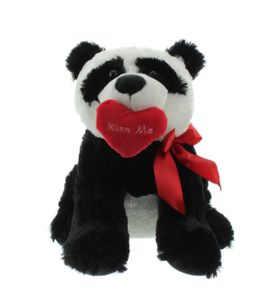 _ Panda mit Herz Kiss me und Schleife Bär 39 cm Kuscheltier Teddybär