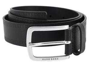 Boss 50452434-001 Herrengürtel Jor Leder Schwarz, 95 cm