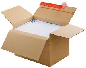 10 ColomPac® Faltschachteln Blitzbodenkartons 30,4 x 21,6 x 13,0 - 22,0 cm