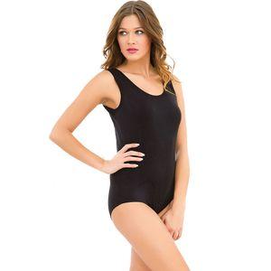 2 Stück Damen Body Schwarz oder Weiß Breite Träger Ärmelloser Bodysuit 301/250