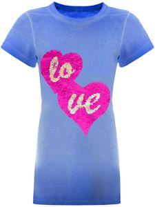 BEZLIT Mädchen Wende Pailletten Longshirt mit Herz-Motiv Blau 164