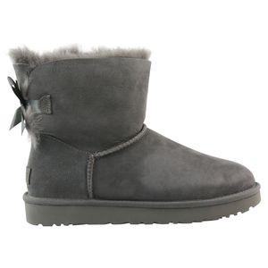 UGG Mini Bailey Bow II Boot Stiefel Damen Grau (1016501 GREY) Größe: 38 EU