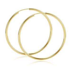 MATERIA Damen XXL Creolen 585 Gold Gelbgold Ohrringe groß 58mm flexibel mit Geschenk-Box  Germany #GO-3