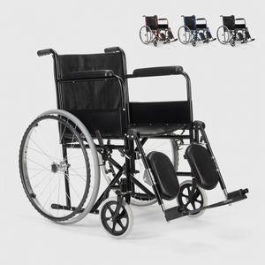 Rollstuhl mit Klappbeinstütze Behinderte und Ältere Menschen PeonyFarbe: Schwarz