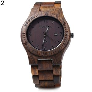 Herren Luxus Natur Ahorn Holz handgefertigte Quarz Uhrwerk Casual Armbanduhr