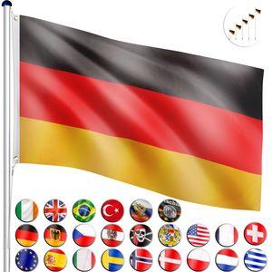 FLAGMASTER® Aluminium Fahnenmast Deutschland 6,50 Meter