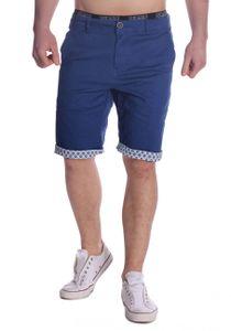 Herren Chino Shorts Bermuda Hose Walkshort, Farben:Dunkelblau, Größe Shorts:30W
