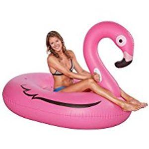 Happy People Luftmatratze Badeinsel Flamingo XXL Floater 160x116x120cm