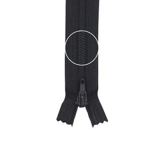YKK Reißverschluss Kunststoffspirale nicht teilbar 3mm 16cm 075 kohle