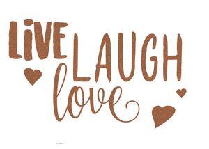 "Komar Deco-Sticker ""LIVE LAUGH LOVE"", kupfer, 50 x 70 cm"