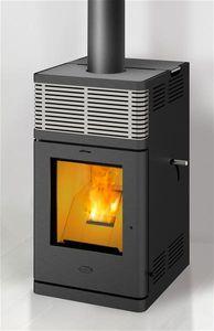 Pelletofen Fireplace Gravio schwarz Edelstahl 8kW