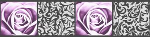 A.S. Création selbstklebende Bordüre Only Borders 9 schwarz lila 5,00 m x 0,13 m 901910