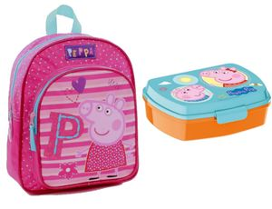Peppa Pig 2 tlg. Kindergarten Set Rucksack und Brotdose Peppa Wutz