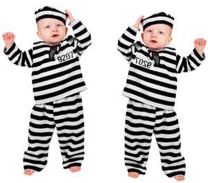Wilbers Kinderkostüm Baby Sträfling Gr. 86- 92 cm -Babykostüm Gefangener 98 cm