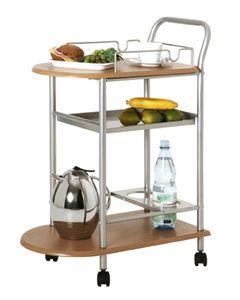 Haku Küchenwagen, alu-buche - Maße: 65 cm x 35 cm x 83 cm; 40027