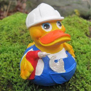 Badeente Heimwerker Duck aus Kautschuk Gummiente Quietscheente