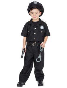 Kostüm Police Officer schwarz 2-tlg. Größe: 104