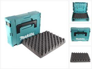 Makita MAKPAC 1 Systemkoffer - mit Universaleinlage für Makita 18 V Akku Geräte Schrauber Sägen Schleifer
