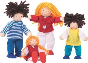 Puppenhaus Puppen Biegepuppen Lifestyle Familie goki 4 Teile Puppenstube