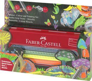 Faber-Castell Farbstift Jumbo Grip Neon + Metallic, sortiert, im Etui