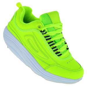 Fitnessschuhe Sport Schuhe 14 Farben Gesundheitsschuhe Damen Herren Sneaker 092, Schuhgröße:40, Farbe:Hellgrün