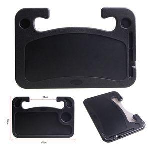 Schwarz Lenkradtisch, Multifunktionstisch, Auto Tisch Lenkradablage Schreibtisch Laptop Tablett Organizer Esstisch Getränkehalter für Auto Pkw Lkw - Tragbar