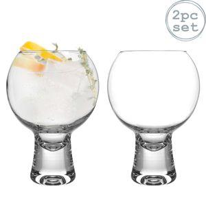 iStyle My Home 2 Stück Ikonic Gin Gläser Set - Short Stem Spanisch Ballon Copa de Balon Gin und Tonic Glass - 540ml