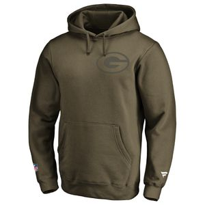 NFL Hoody Green Bay Packers Iconic Olive hooded Sweater Kaputzen Pullover  M