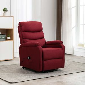 beraes Sessel mit Aufstehhilfe Weinrot Stoff