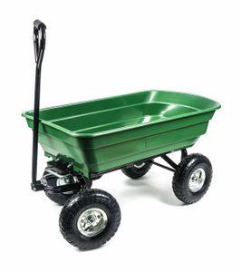 Gartenwagen, 4 Luftreifen, Kippmechanismus, Griff gepolstert, Wanne geschlossen, wendig, geländegängig, vielseitig, Zuladung max. 200 kg