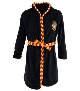 Harry Potter Mädchen oder Jungen Bademantel mit Kapuze (Schwarz, 152-158) 12-13 Jahre