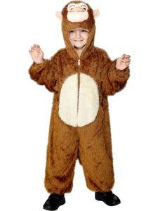 Karneval Kinder Kostüm Affe Overall als Tier verkleiden Gr.5-8 Jahre