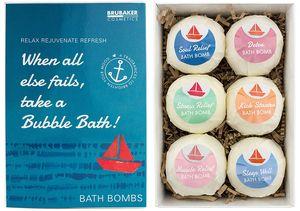 "6er Set Badebomben BRUBAKER Cosmetics ""When all else fails, take a Bubble Bath"" - Handgemacht - Vegan - Glutenfrei - Parabenfrei"