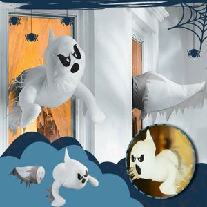 Miixia Halloween Geist des zerbrochenen Fensters Deko Geist Puppe Fensterdekoration
