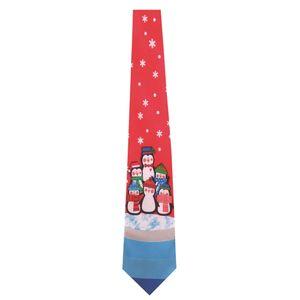 Christmas Shop Weihnachtskrawatte mit Musik RW6388 (Einheitsgröße) (Pinguin)