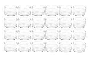 24er Set Teelichthalter Glas Teelichtgläser Windlicht Gläser Kerzenhalter klar