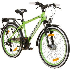 Galano Adrenalin 24 Zoll Mountainbike Jugendfahrrad MTB Hardtail Fahrrad ab 140 cm/11 Jahre, Farbe:blau/grün