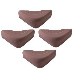 4 Stück Eckenschutz Farbe Braun