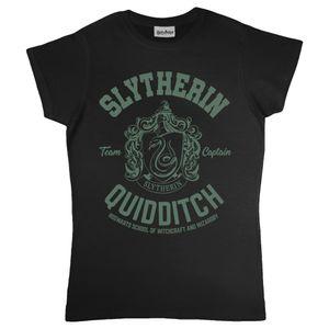Harry Potter - Slytherin T-Shirt für Damen PG797 (M) (Schwarz)