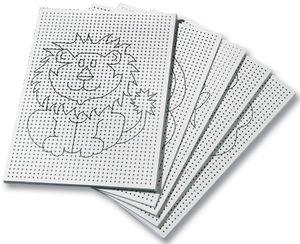 folia Stickkarton 175 x 245 mm weiß bedruckt 300 g/qm 8 Motive 40 Blatt
