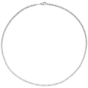 Königskette 585 Gold Weißgold 45 cm Kette Halskette Goldkette Karabiner