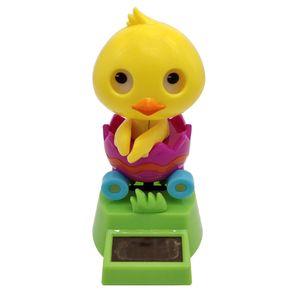 Solar Wackelfigur Solarbetriebenes Spielzeug Tischdeko mit Ente Figur, aus Plastik