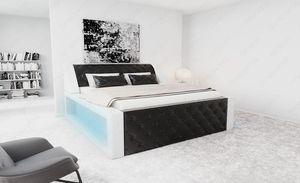 Komplettbett Arezzo in Schwarz Weiß