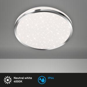LED Deckenleuchte Badlampe Sternendekor IP44 12W Weiß Ø28cm Briloner Leuchten