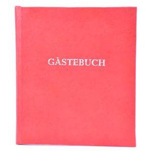 Gästebuch m.Wortprägung rot