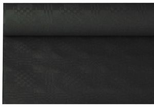 PAPSTAR Damast-Tischtuch (B)1,2 x (L)8 m schwarz