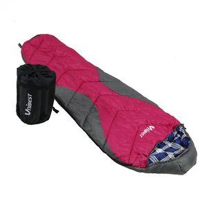 Unibest Kinderschlafsack Mumienschlafsack Baumwolle Reißverschluss links pink